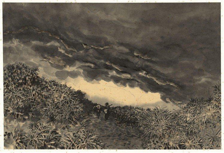 大陸藝術家李昆武繪製的古巴,融入水墨畫的特質。圖/LV提供