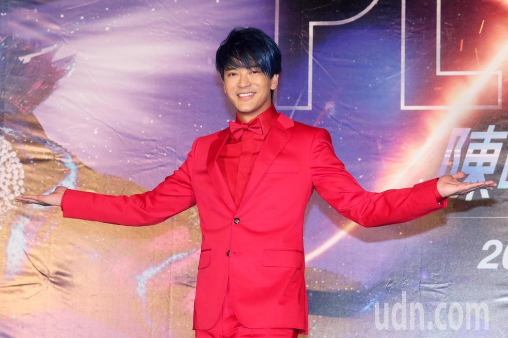 歌手陳曉東今天舉行世界巡迴演唱會台北站售票記者會。記者胡經周/攝影