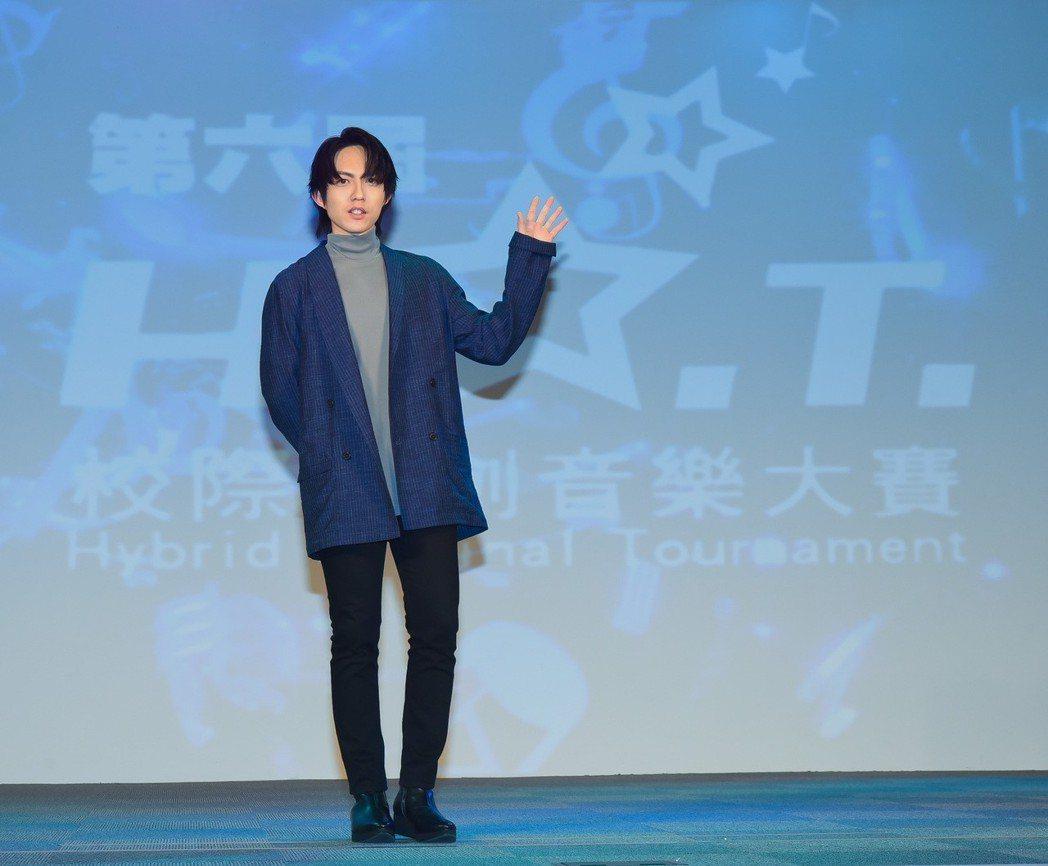 林宥嘉出席第六屆H.O.T.校際原創音樂大賽決賽記者會。圖/華研提供