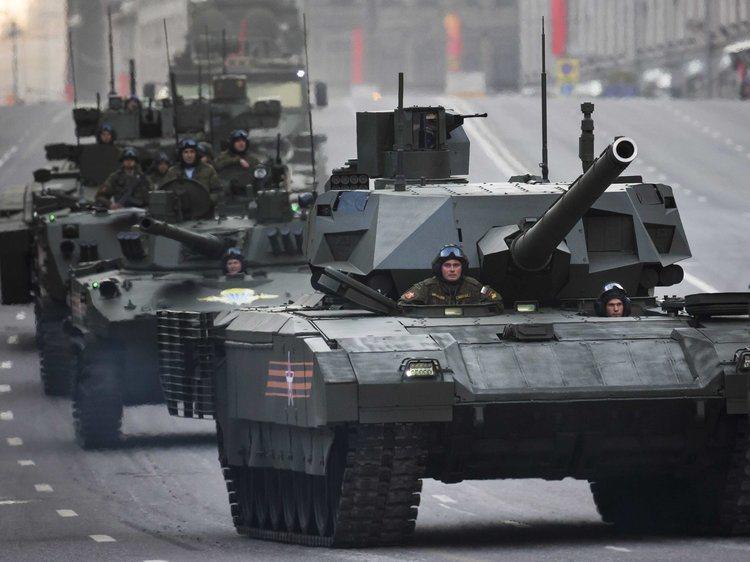 俄國T-14阿爾瑪塔戰車。 (美聯社)