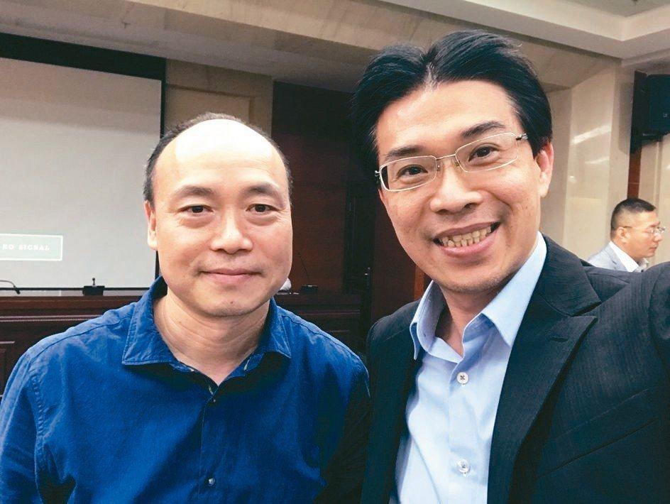 賽恩特基金會執行長Peter Shi(左)、蓋德科技董事長許賓鄉攜手合作,開創遠...