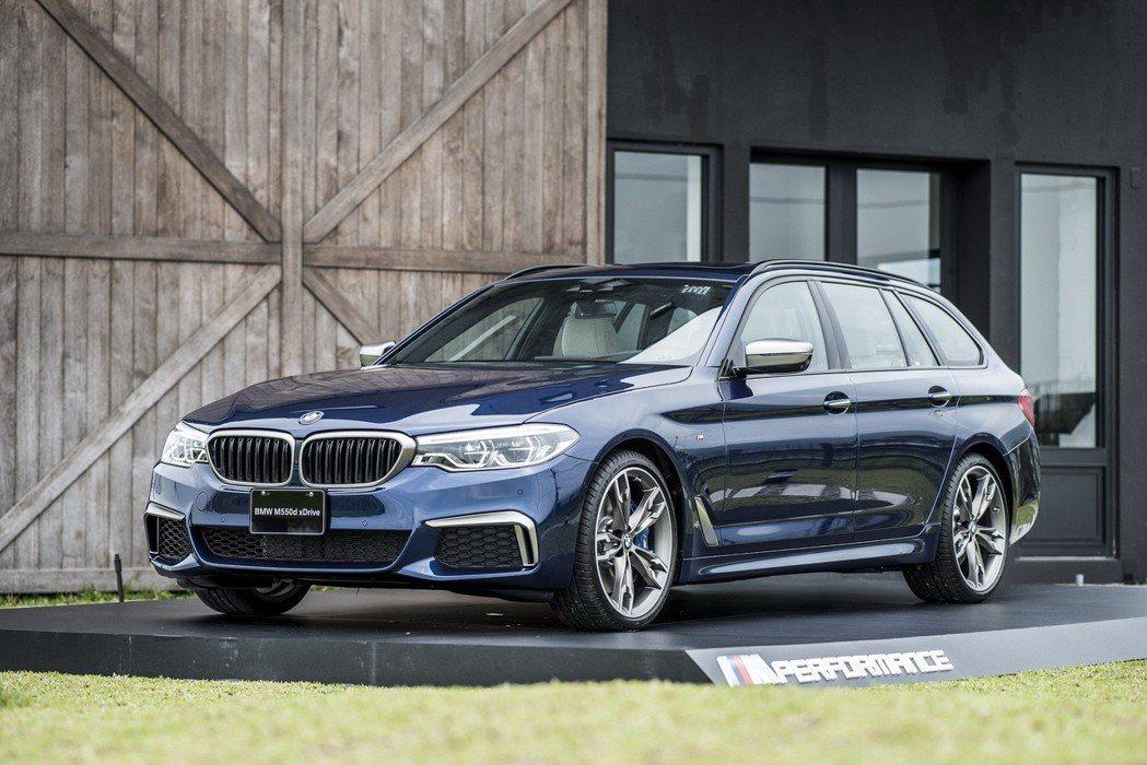全新BMW M550d xDrive Touring震撼上市。 圖/汎德提供