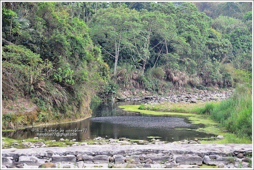 ↑四月上旬的澐水溪水落石出,夏季水量豐沛時應該更漂亮。