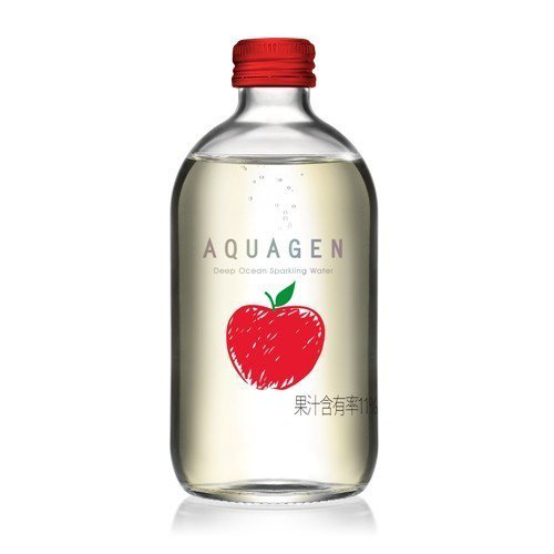AQUAGEN海洋深層氣泡水今年推出歐風十足的奧地利香蘋風味。圖/AQUAGEN...