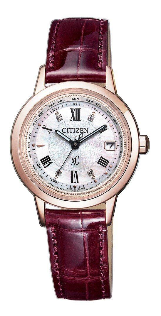 Citizen EC1144-00W腕表,鈦金屬表殼、珍珠母貝表盤,約33,80...