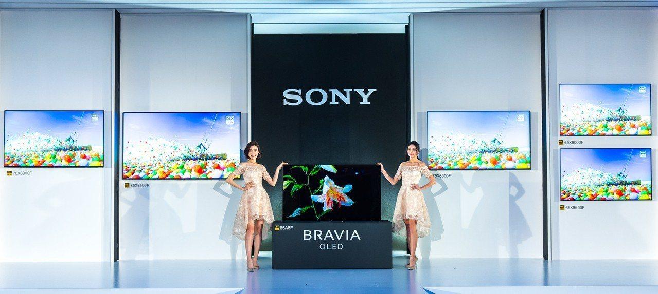 Sony推出2018全新BRAVIA 4K HDR OLED液晶電視系列。圖/S...