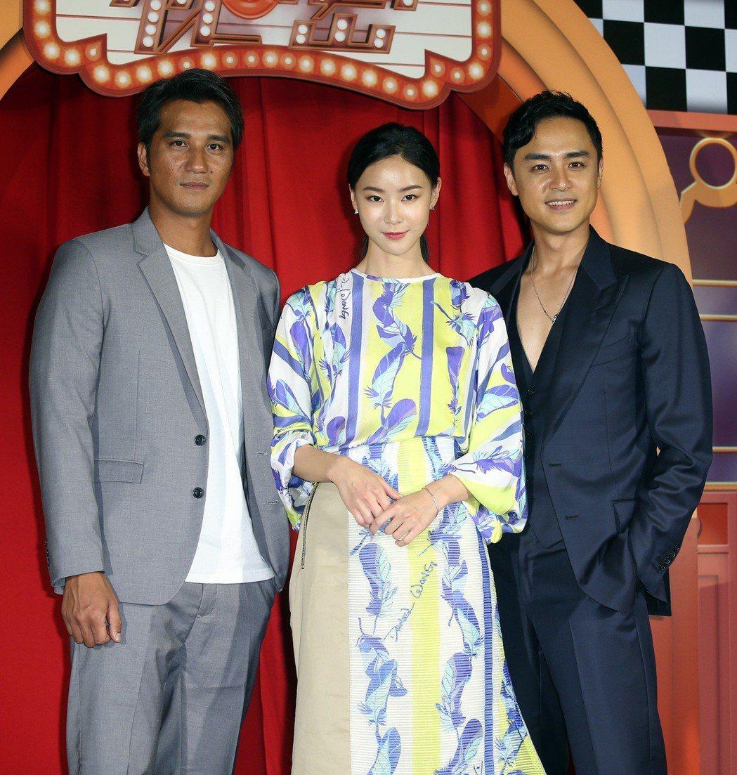 《市長夫人的秘密》電影首映會,演員馬志翔、明道、鍾瑶出席。記者曾吉松/攝影