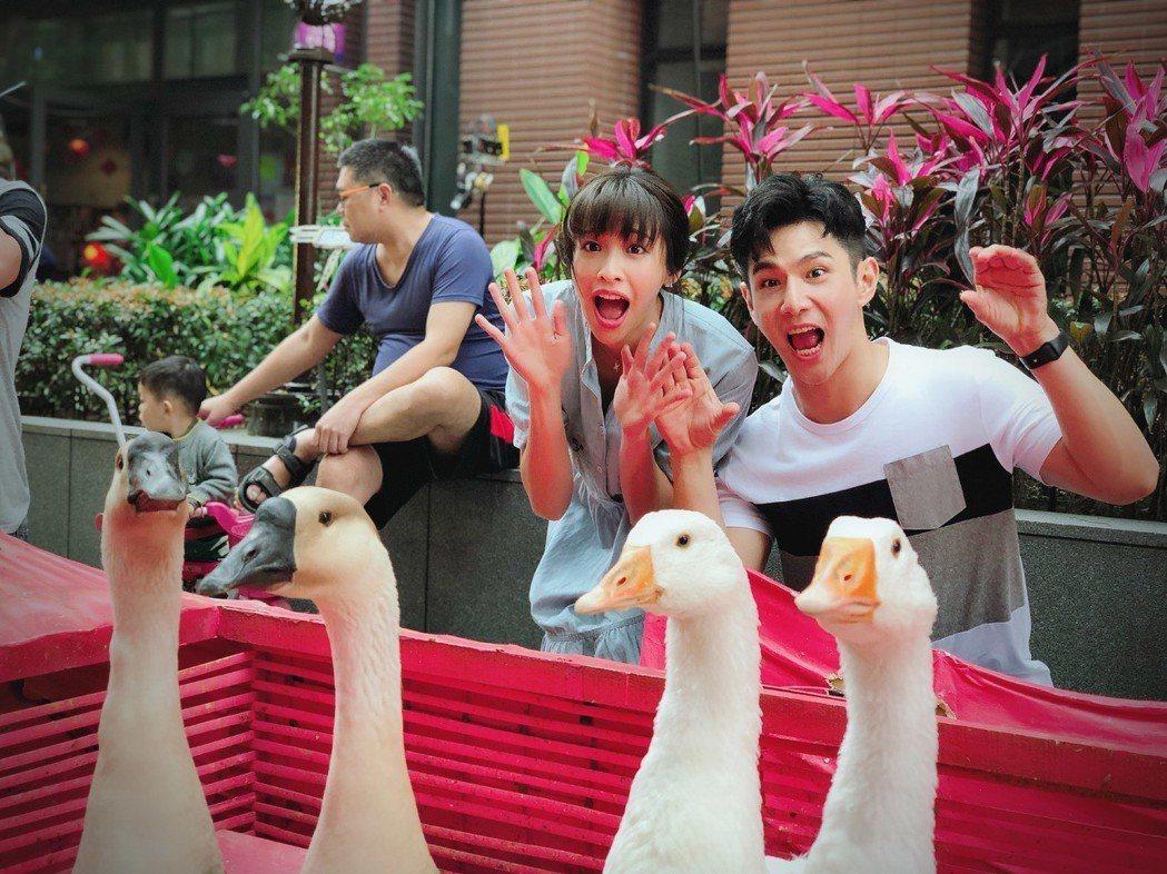 袁詠琳(左)與祖雄演出「秘密情人」。圖/CHOCO TV提供