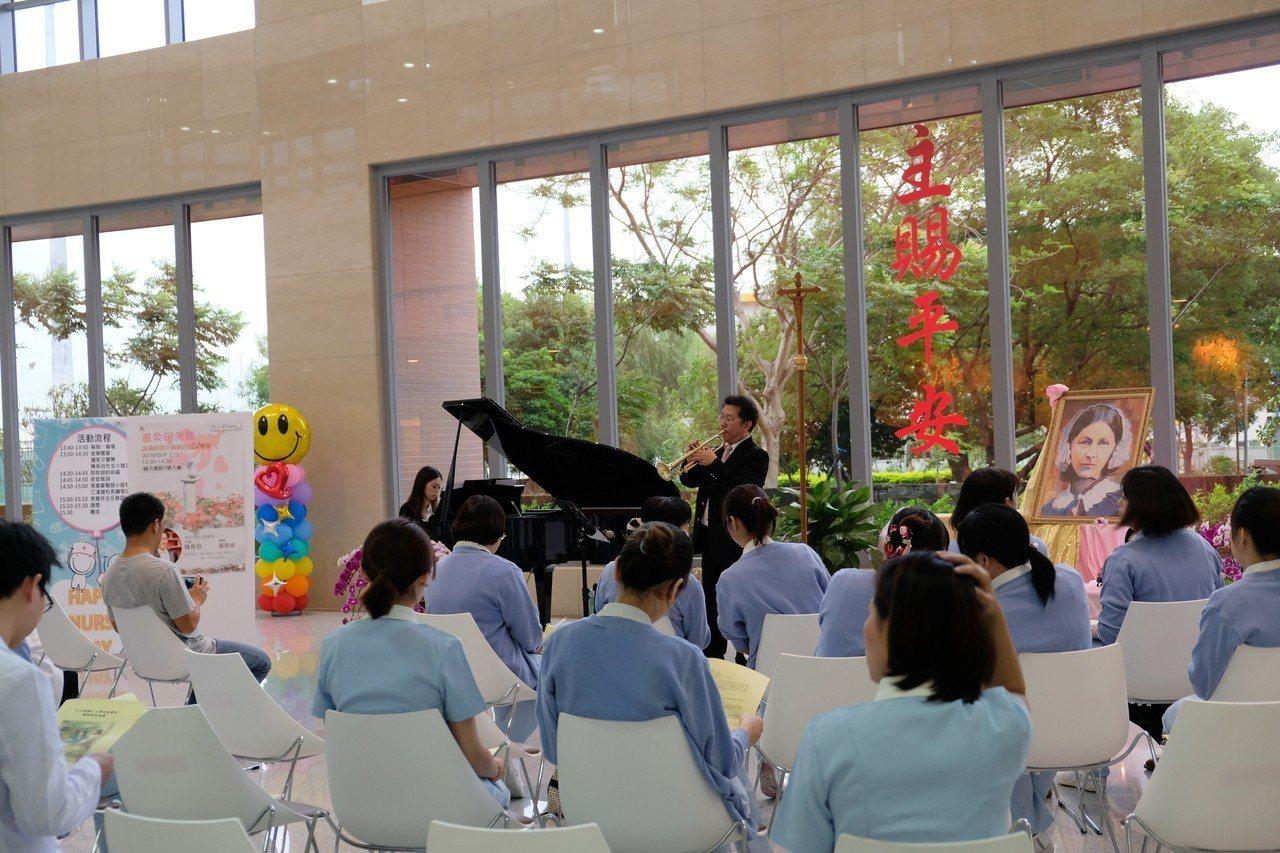輔仁大學附設醫院今天舉行護師節慶祝大會。記者張曼蘋/攝影