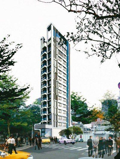 樹林區大同段改建後將成為地下2層、地上14層的電梯集合住宅。圖為改建後模擬圖。 ...