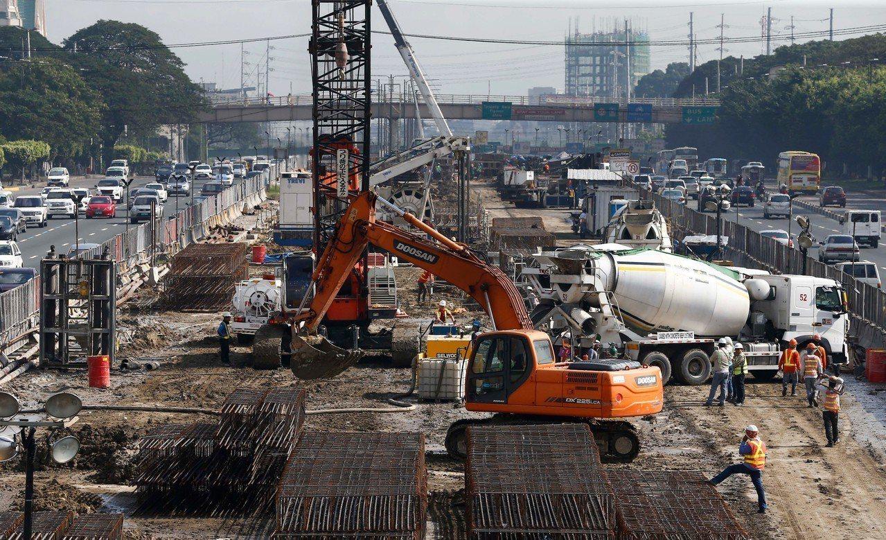 官方公布數據,菲律賓Q1經濟成長率達6.8%。 歐新社