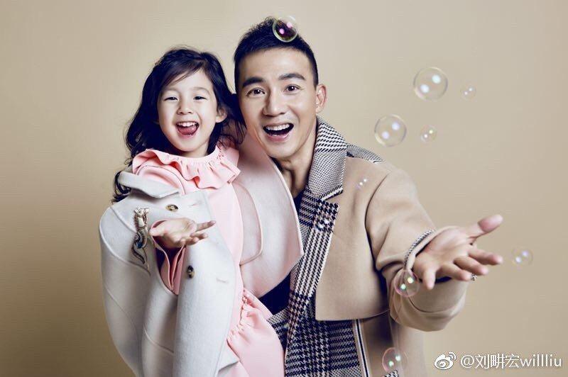 日前劉畊宏與女兒小泡芙參加親子實境秀「爸爸去哪兒」,在大陸意外爆紅。 圖/擷自微