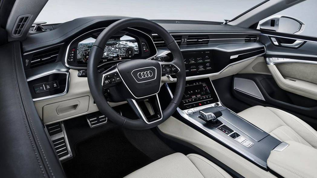 圖為新世代Audi A7內裝。 摘自Audi