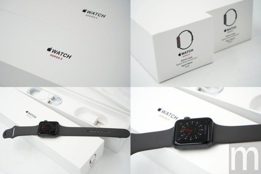 盒裝設計與內部包裝基本上與Wi-Fi版Apple Watch series 3相...