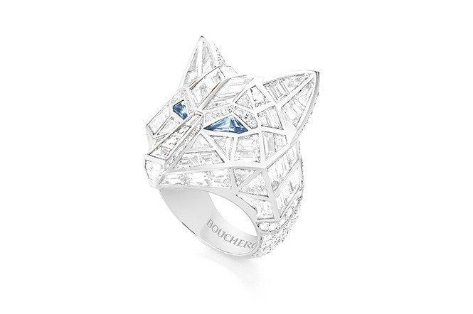 動物系列LOUP雪狼戒指,建議售價:NT$555萬。