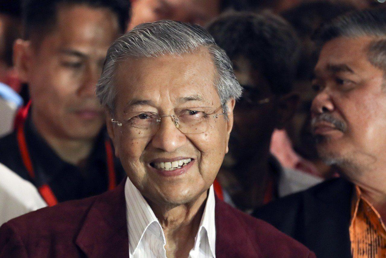 馬來西亞前總理馬哈迪。歐新社