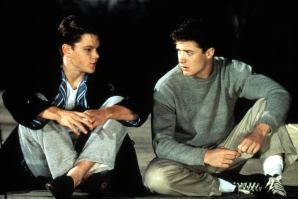 麥特戴蒙(左)與布蘭登費雪合演「校園風雲」時都是新秀小咖,之後都曾大紅大紫,現在...
