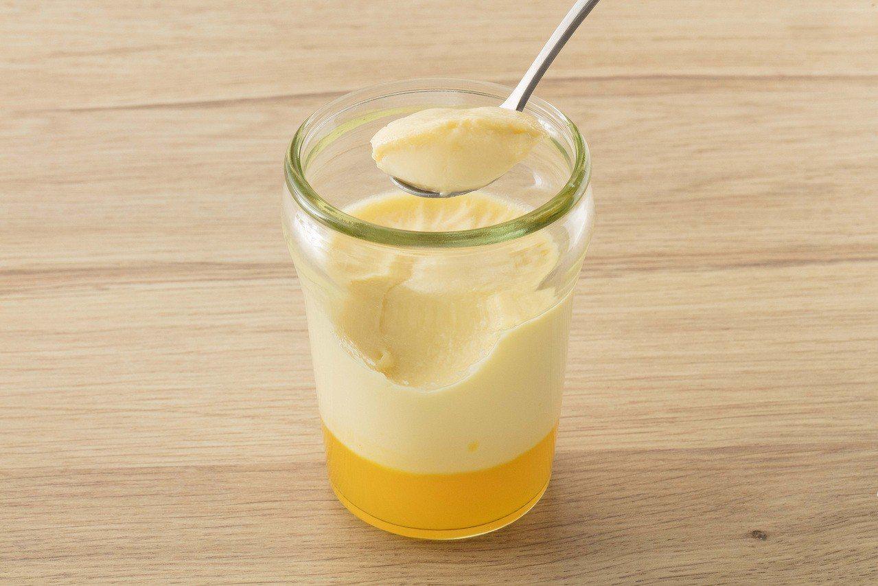 夏日甜橙玻璃罐布丁,售價62元。圖/全聯提供