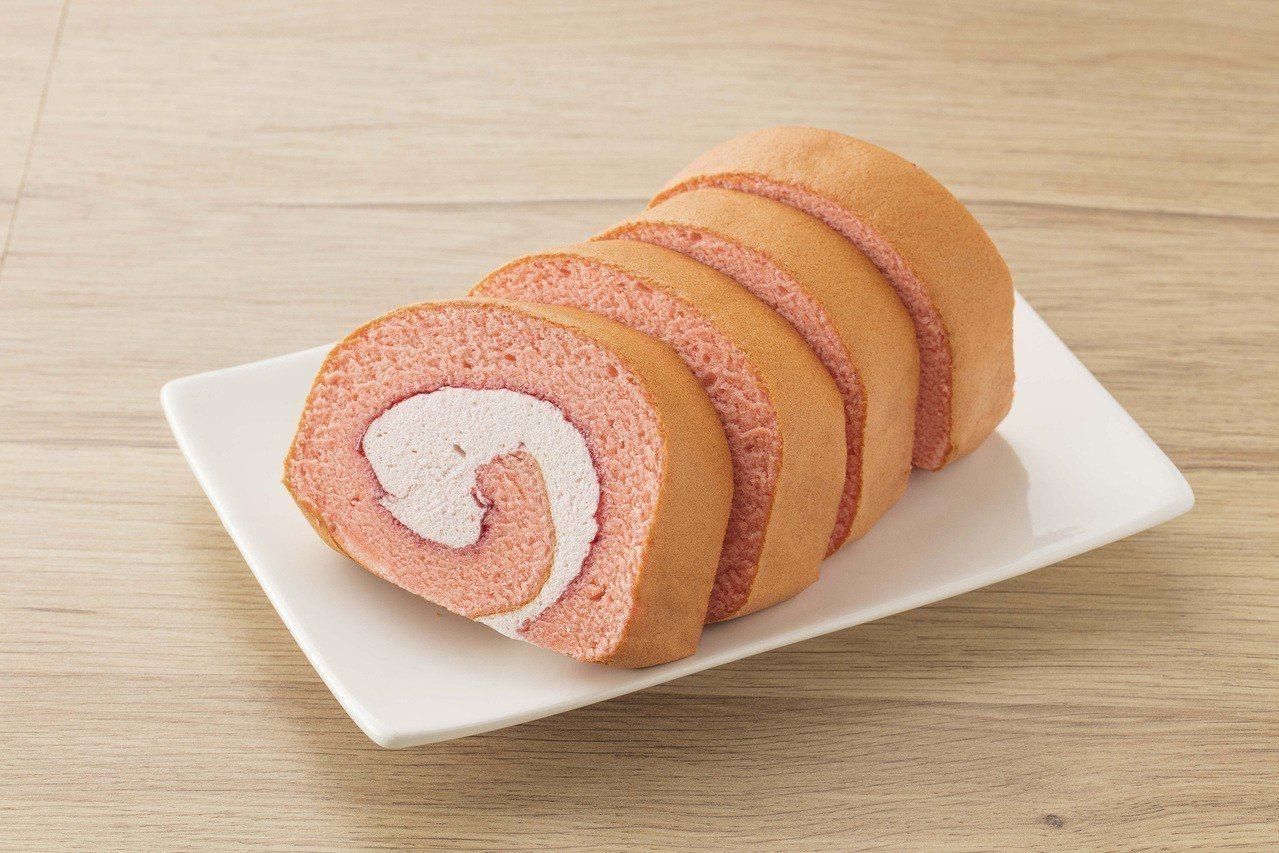 冰心捲蛋糕4入荔枝覆盆莓,售價99元。圖/全聯提供