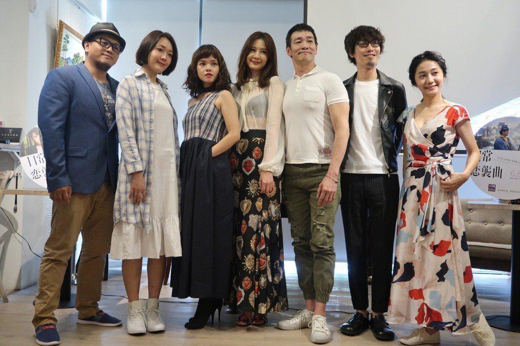 安心亞(右4)首度挑戰演舞台劇 「日常恋襲曲」  圖/我城劇場提供