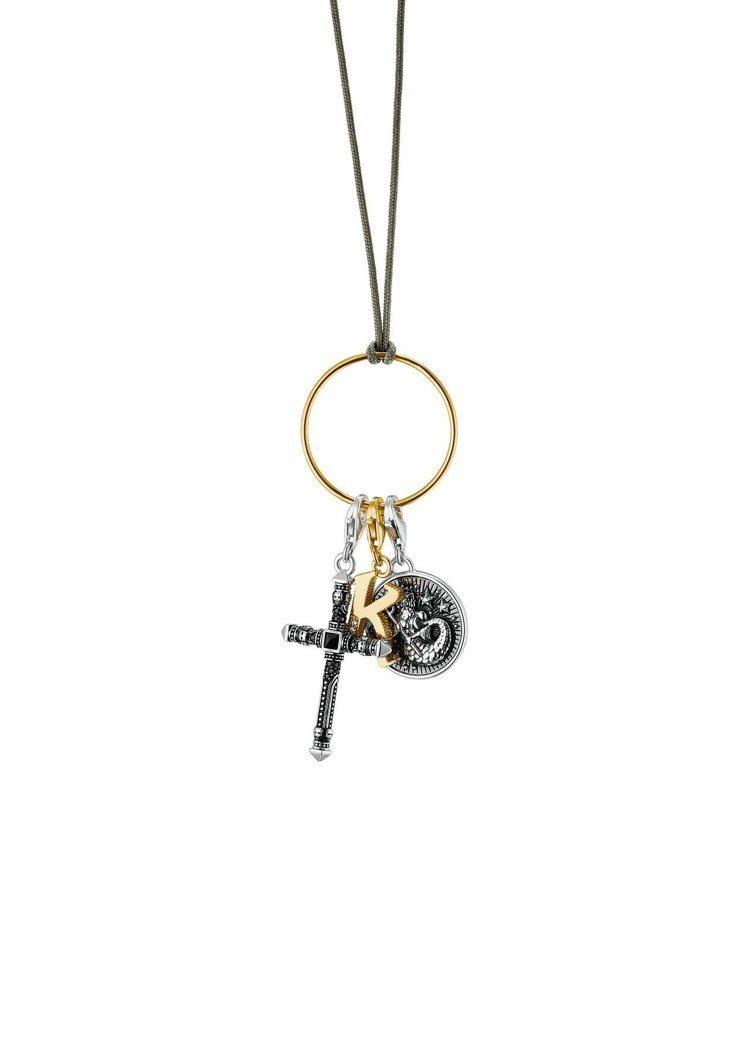 Thomas Sabo純銀十字架綴黑鋯石項鍊,13,320元。圖/Thomas ...