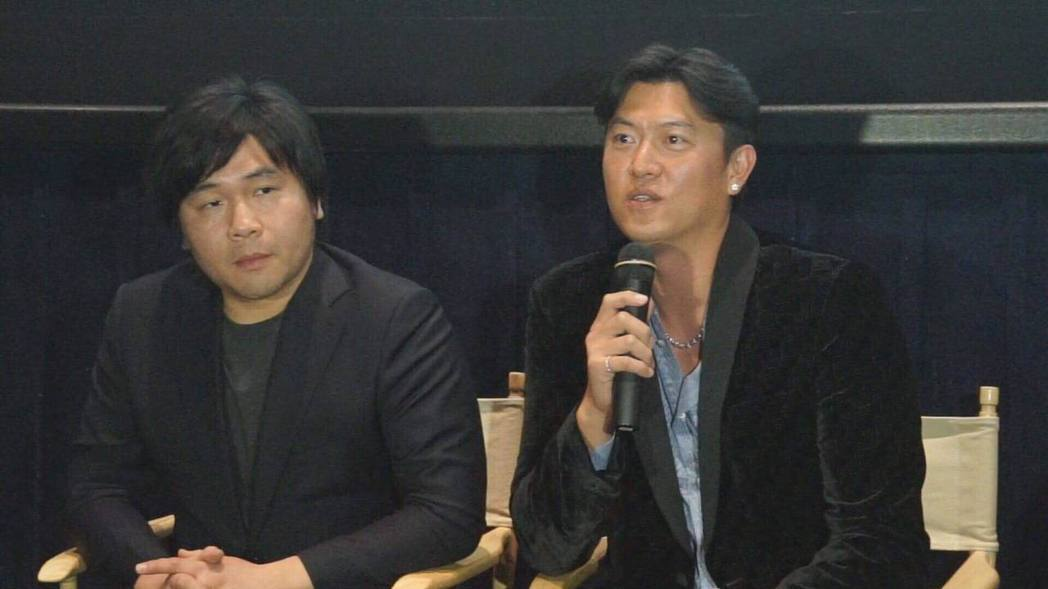「後勁:王建民」世界首映。左為導演陳惟揚。圖/牽猴子提供