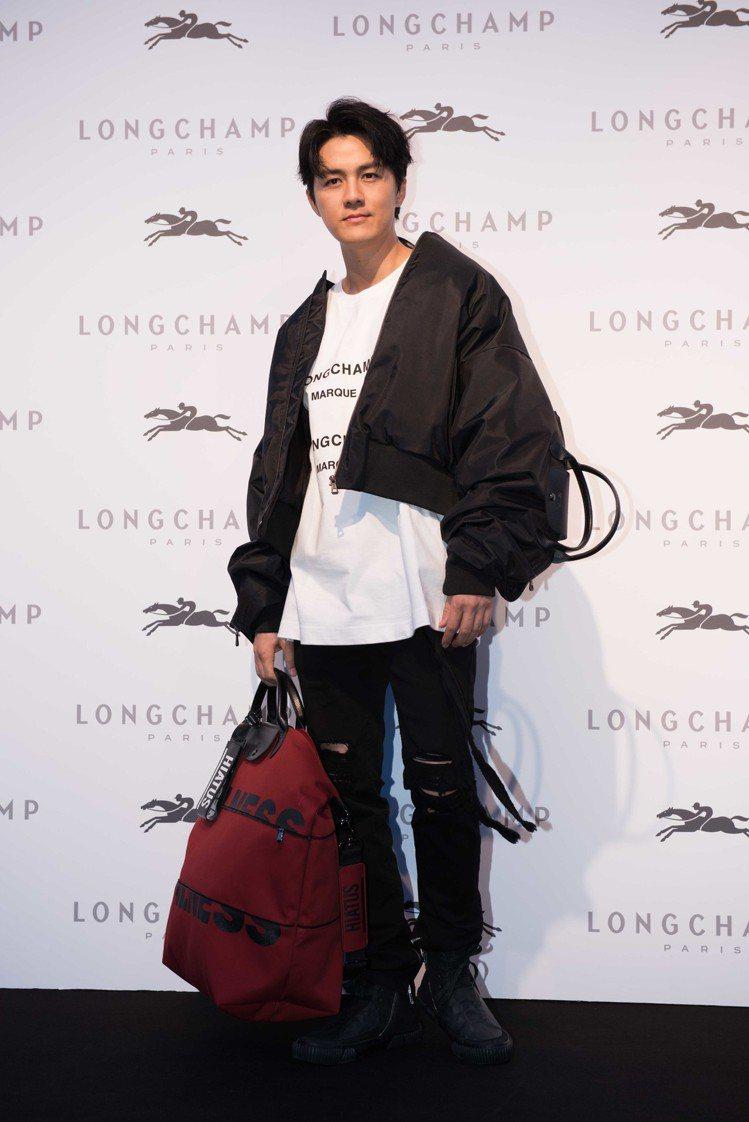吳克群出席Longchamp by Shayne Oliver聯名系列發表。圖/...