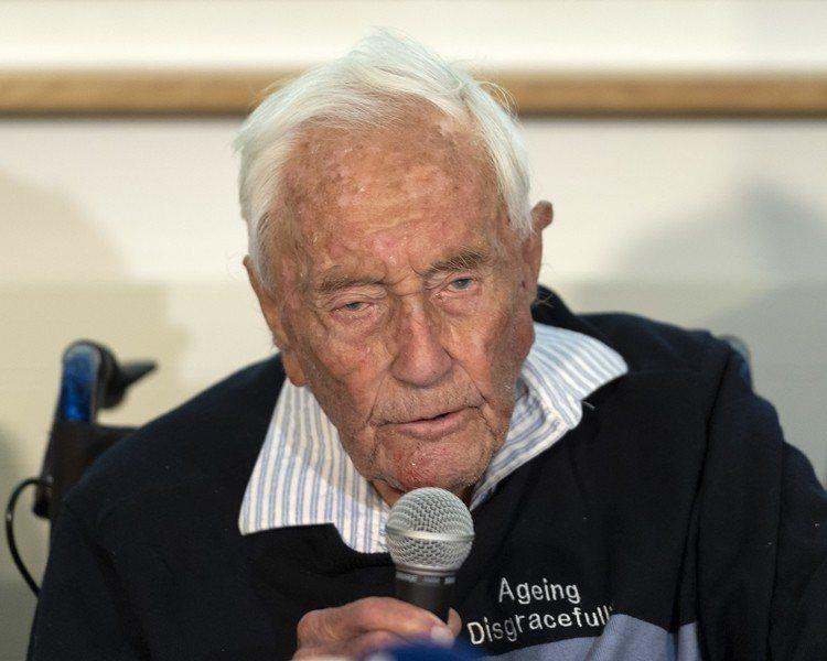澳洲104歲科學家古道爾10日已安樂死。美聯社