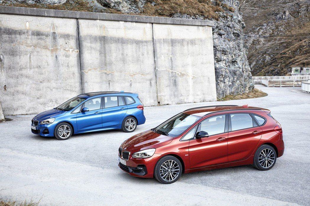 全新BMW 2系列Active Tourer(右)、2系列Gran Tourer(左)。 圖/汎德提供