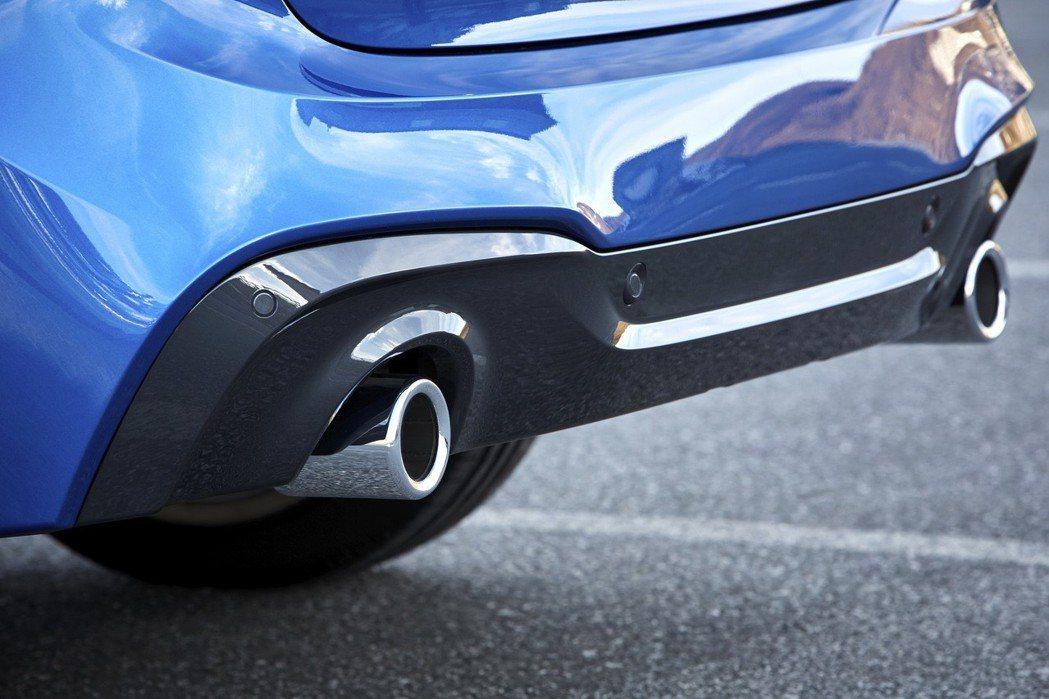 M款空力套件與雙邊單出排氣尾管。 圖/汎德提供