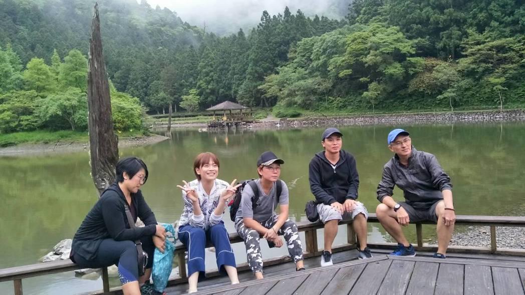 新加坡《我的導遊是明星》節目在明池山莊取景拍攝。圖/力麗觀光提供