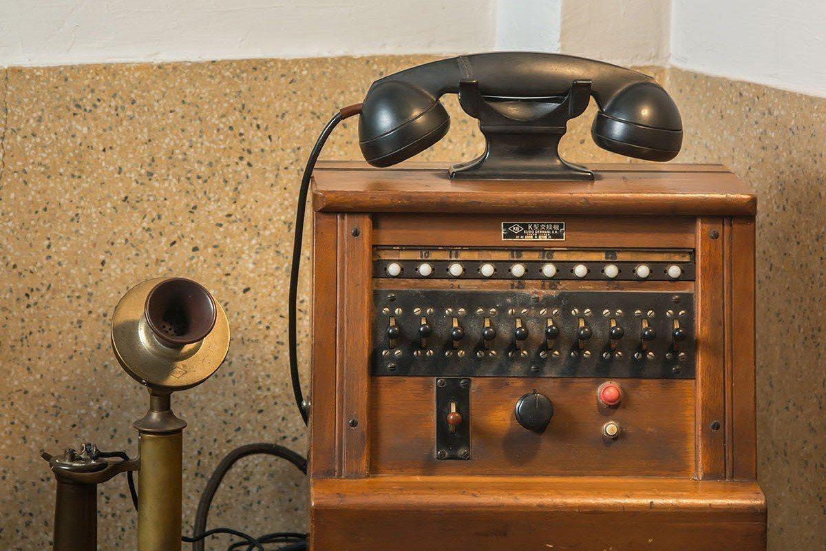 舊時接線生使用的電話交換機