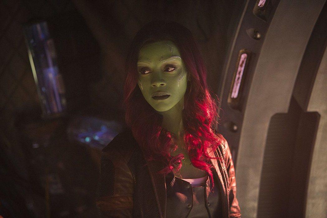 葛摩菈是「復仇者聯盟:無限之戰」佔戲最重的女性角色,堪稱第一女主角。圖/摘自im...