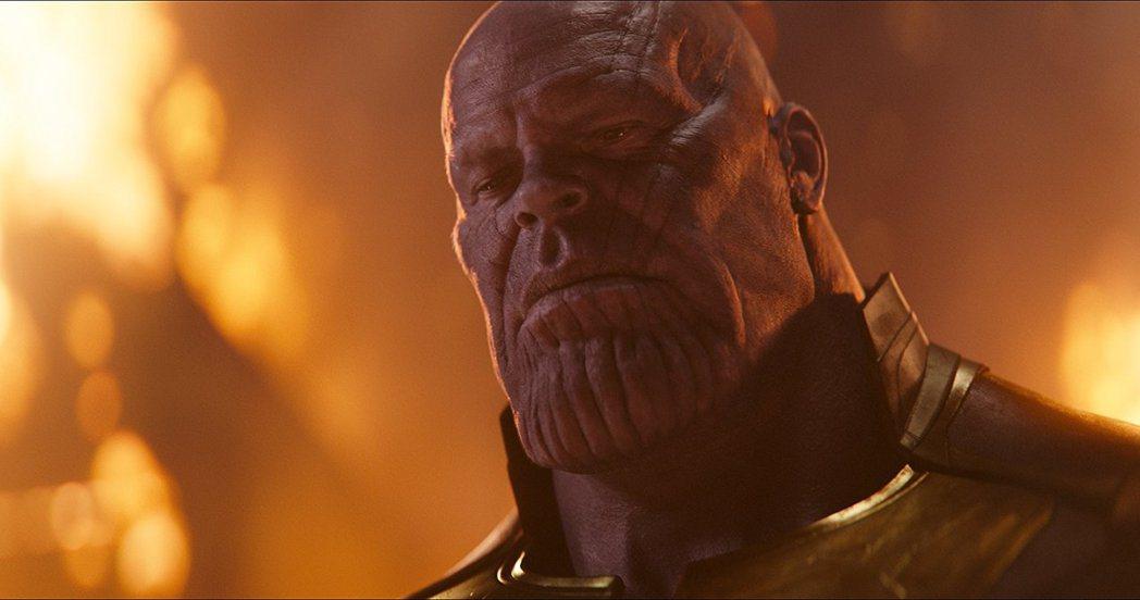 薩諾斯毫無疑問是「復仇者聯盟:無限之戰」戲分最重的主角。圖/摘自imdb