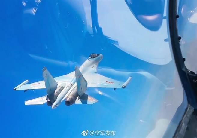 中共空軍的蘇-35。圖/翻攝自「空軍發布」微博