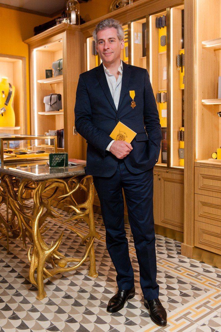 品牌創意總監Augustin de Buffévent特地來台出席開幕活動。圖/...
