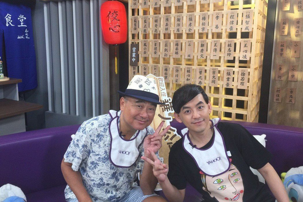 黃子佼中午訪問陳昇。圖/Yahoo TV提供