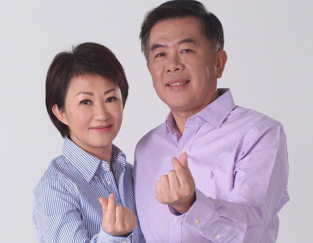 盧秀燕(左)形容老公廖述嘉是「最好賢內助」。 圖/盧秀燕提供
