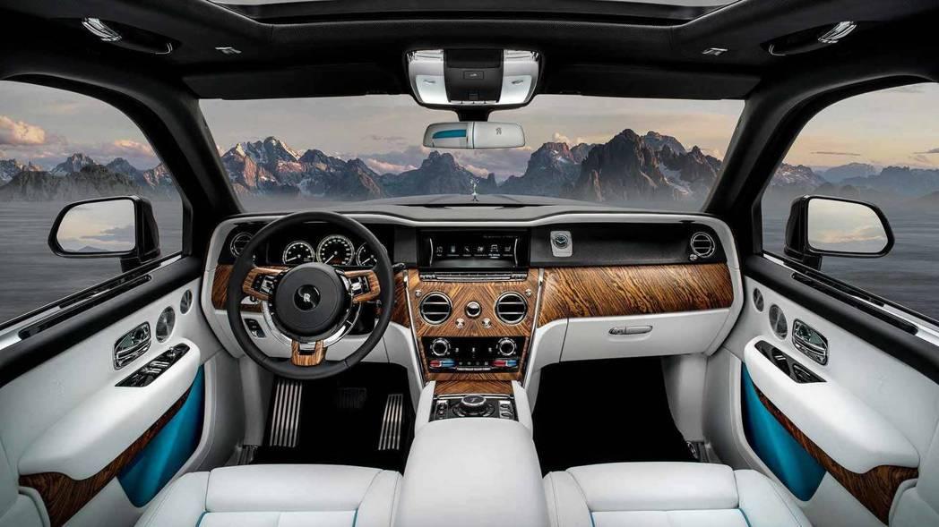 Rolls-Royce Cullinan 內裝佈局。 摘自Rolls-Royce