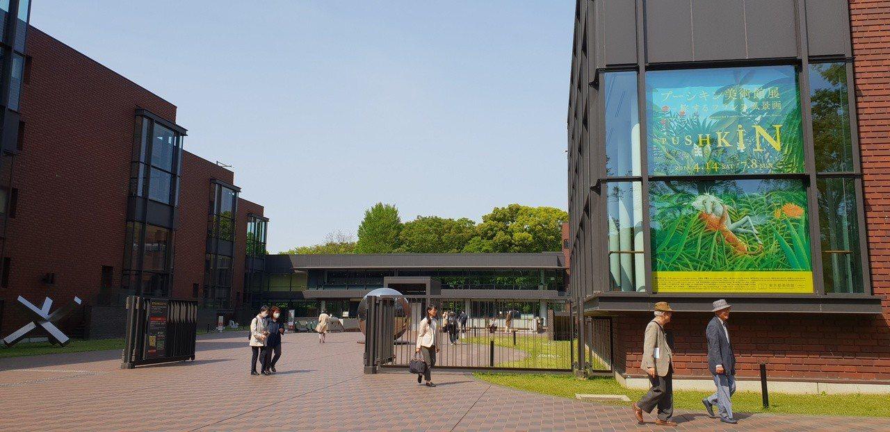 東京都美術館正展出「普希金博物館繪畫特展:法國風景畫的旅行」。記者陳宛茜/攝影