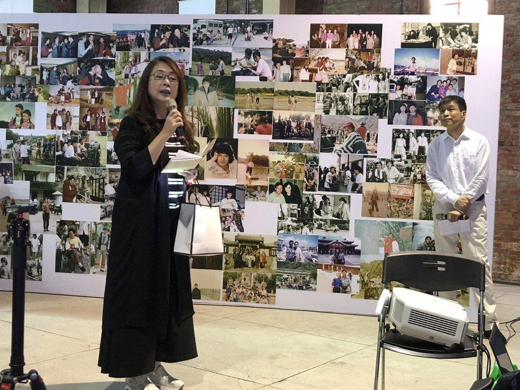 趙永馨(左)和李天柱當年一起拍劉立立導演的「庭院深深」。記者  楊起鳳/攝影