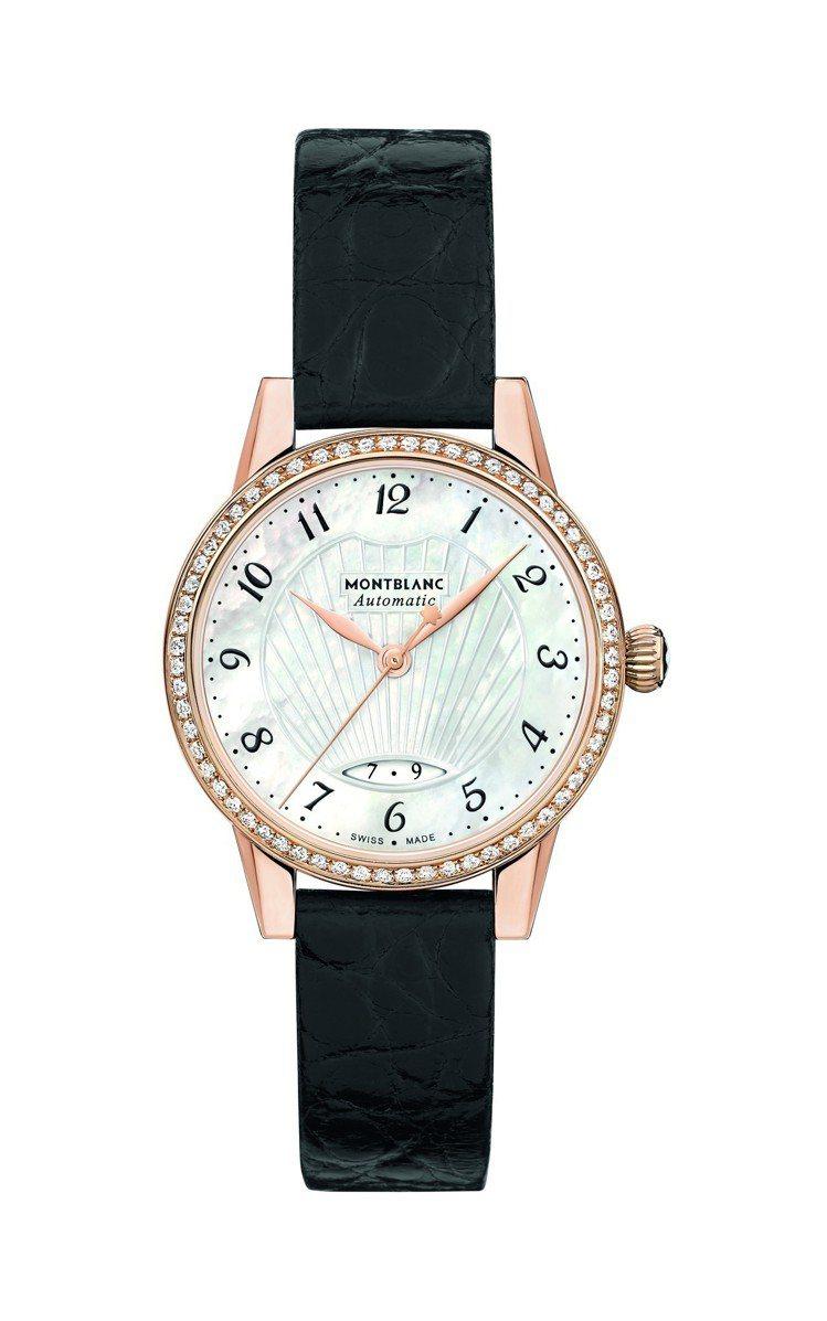 范冰冰於坎城配戴的萬寶龍Boheme寶曦系列日期顯示珠寶腕表,29萬4,200元...