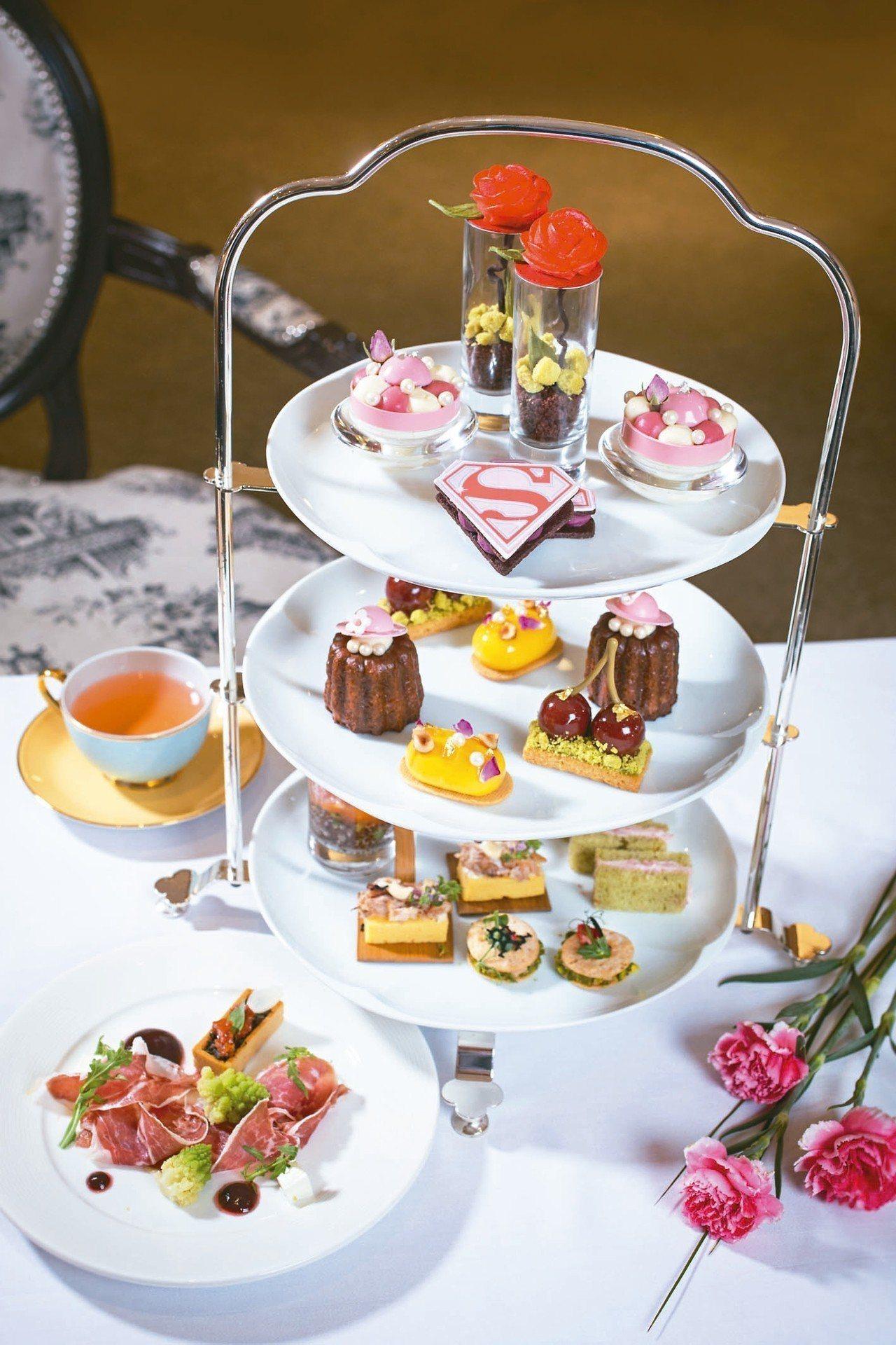 「女力萬歲」下午茶套雙人套餐,每套1680元+10%。 圖/台北君悅酒店提供