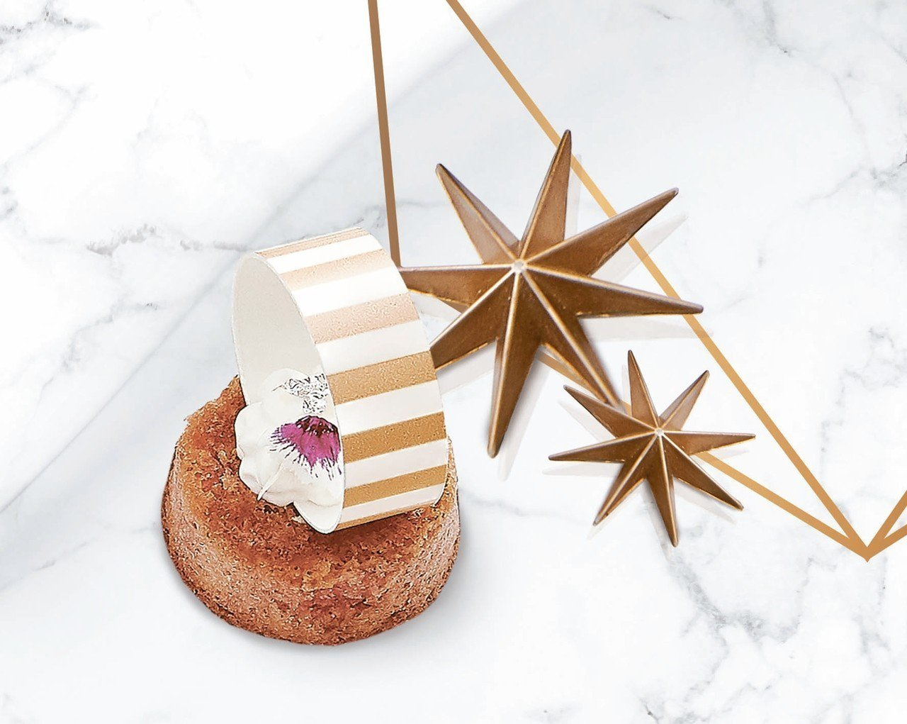 Tubogas伯爵覆盆莓蛋糕。 圖/台北萬豪酒店提供