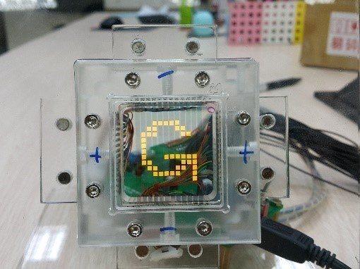 明志科大與智晶光電合作所採用的透明元件技術。 校方/提供