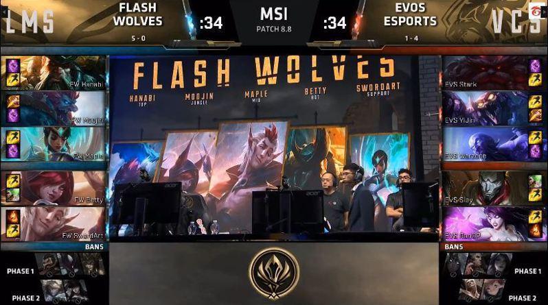 閃電狼對上EVS。