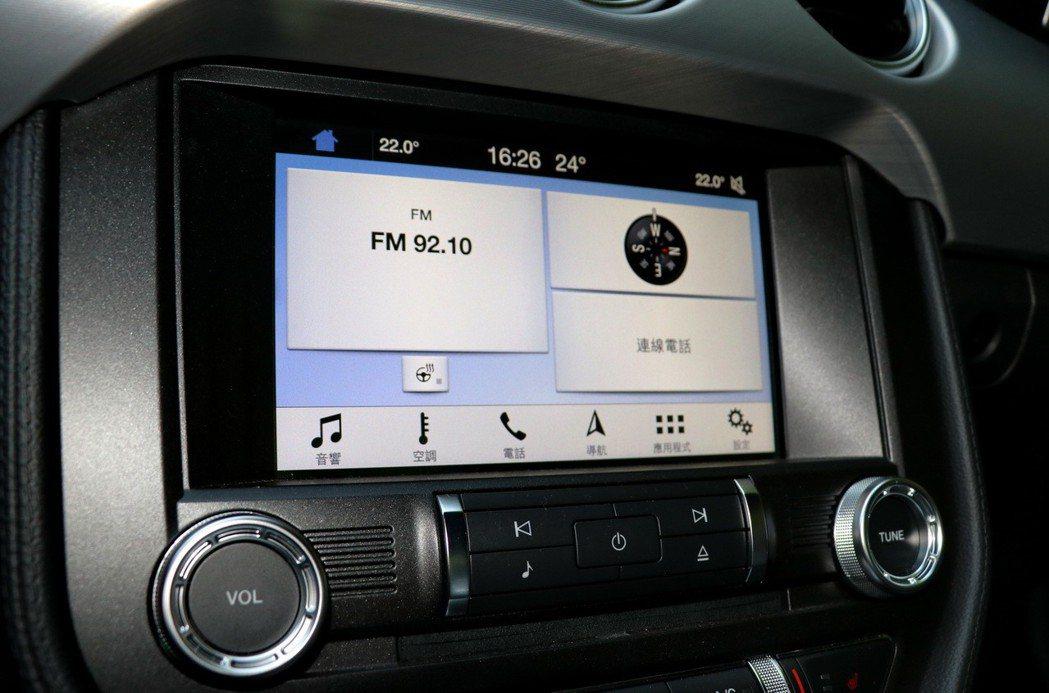 Mustang也導入了SYNC 3娛樂通訊整合系統。 記者陳威任/攝影
