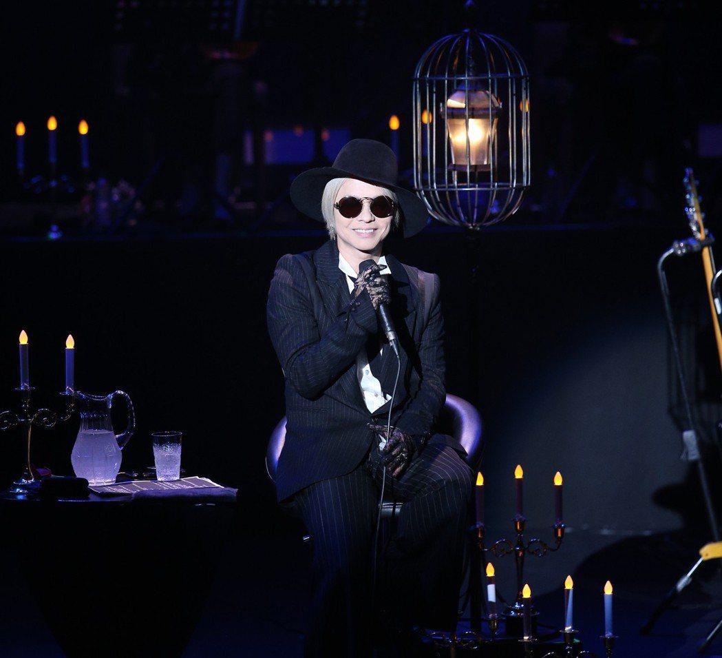 HYDE「黑色彌撒」台北演唱會晚上在台北國際會議中心舉行。記者陳正興/攝影
