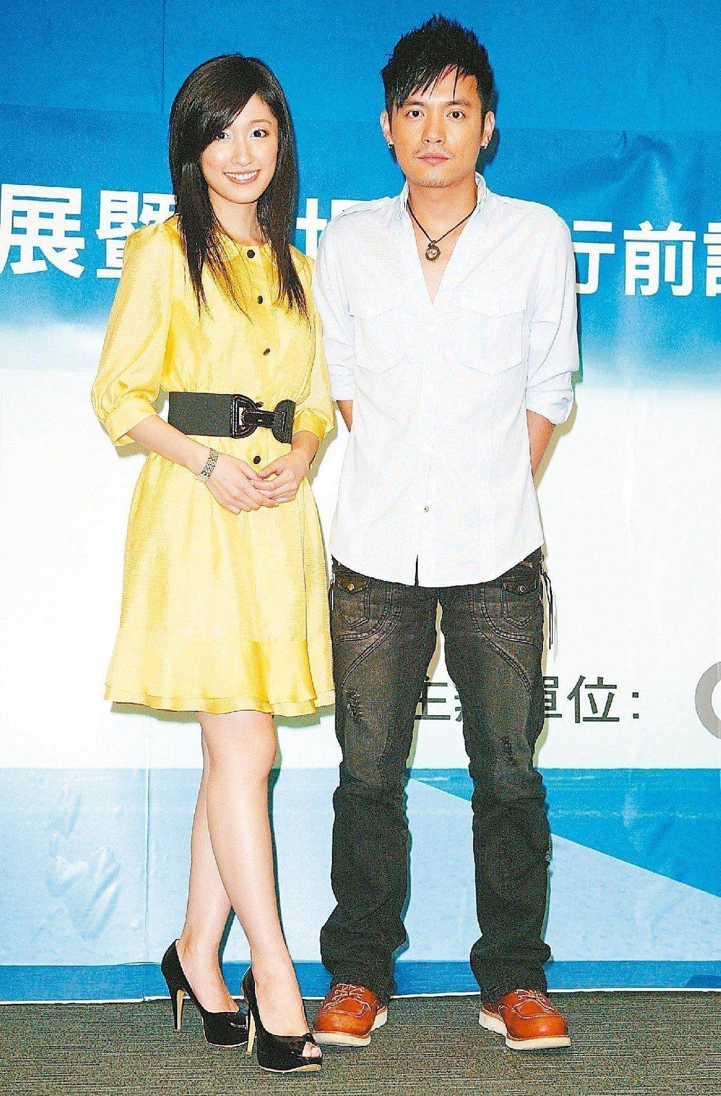 范逸臣(右)與田中千繪(左)2008年因電影《海角七號》傳出假戲真做。 圖/聯合
