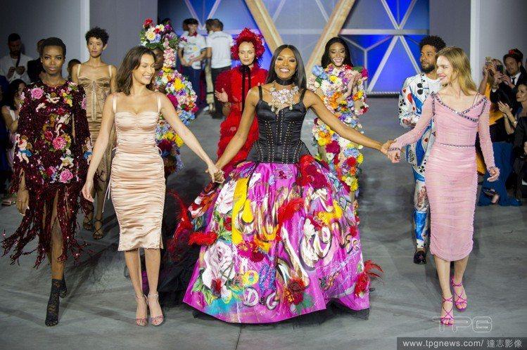 (左至右)Bella Hadid、娜歐蜜坎貝爾、Natalia Vodianov...